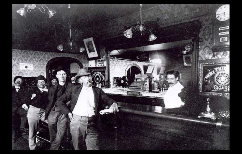 Bar in 19th century Colorado