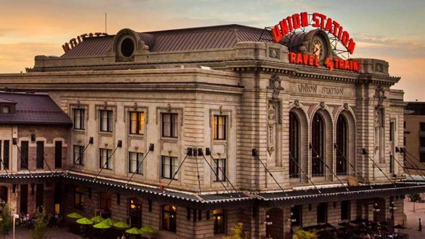 Denver Union Station is the ideal destination for a road-trip