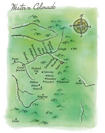 Western Colorado map