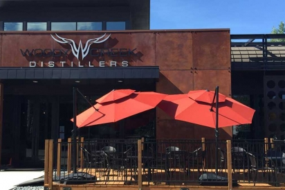 Woody Creek Distillers' new patio