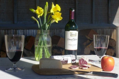 Farmstead cheese and salumi await cabin guests at Avalanche Cheese