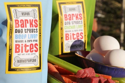 Barks Bites dog treats are made with the same high-quality ingredients that are served in Aspen's top restaurants
