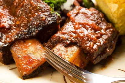 Hoisin & Aspen Brewing Co.'s Brown Bearale Braised Beef Short Ribs