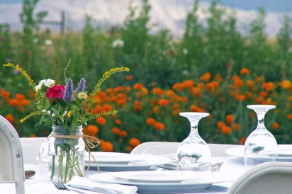 Farm dinner at Zephyros Farm and Garden in Paonia