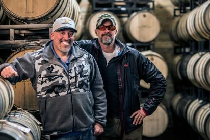 Mark Kleckner and Pat Scanlan of Woody Creek Distillers