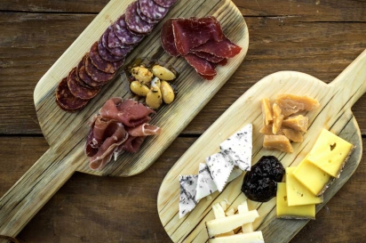 Cheese and charterie boards at Meat & Cheese