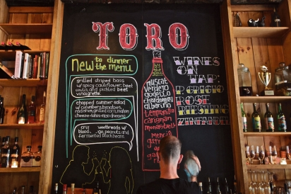 Toro Menu in New York City