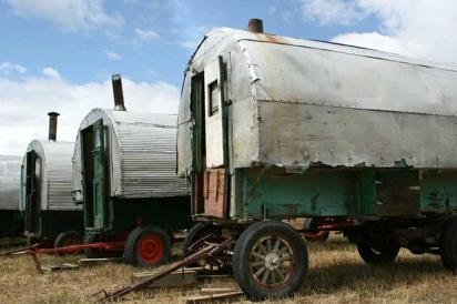 Historic sheep wagons