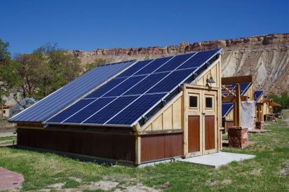 Solar panels at Early Morning Orchard