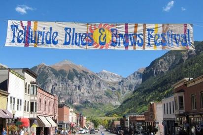 Telluride Blues & Brews Festival sign