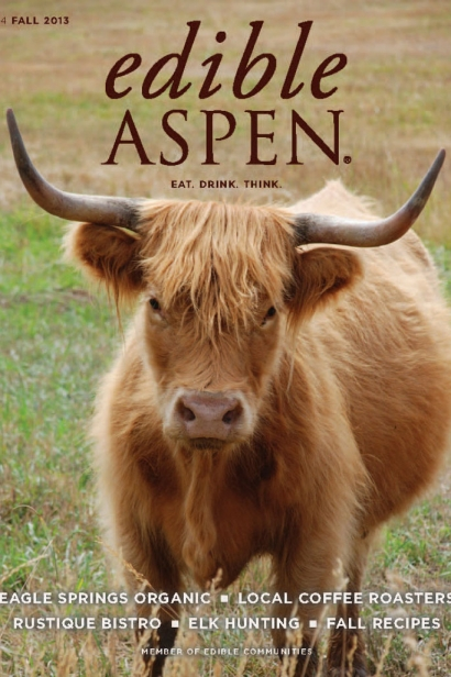 Edible Aspen Issue 24, Fall 2013 Cover