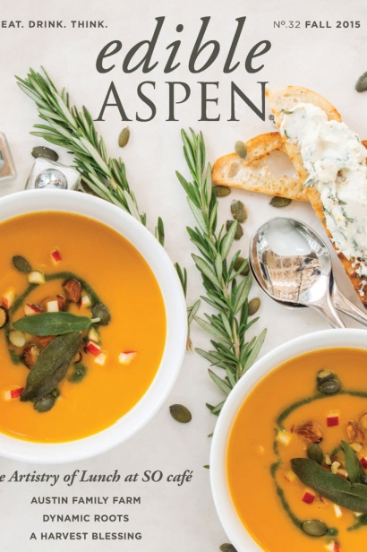 Edible Aspen Issue 32, Fall 2015 Cover
