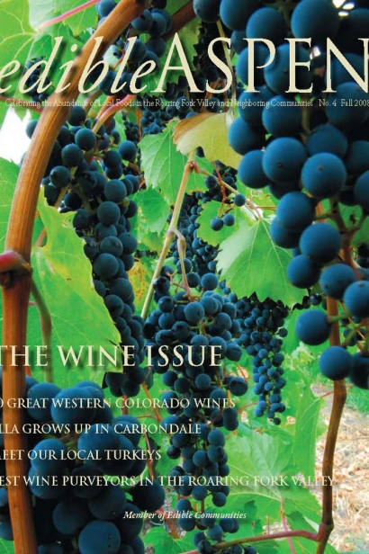 Edible Aspen Issue 4, Fall 2008 Cover