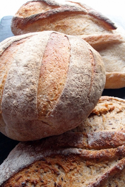 Bread loaves at The Guild