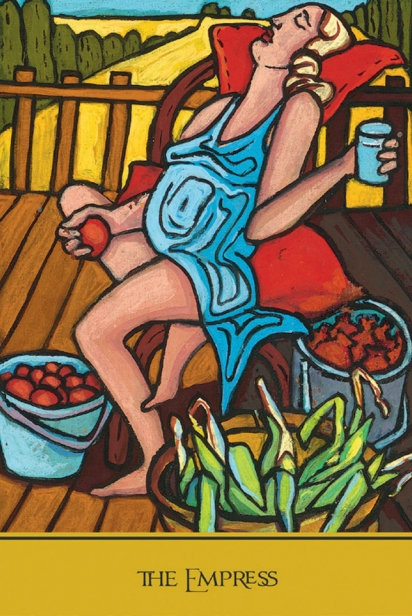 The Empress from The Cook's Tarot