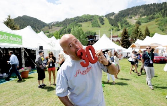 Andrew Zimmern celebrates the 30th anniversary of the Food & Wine Classic in Aspen