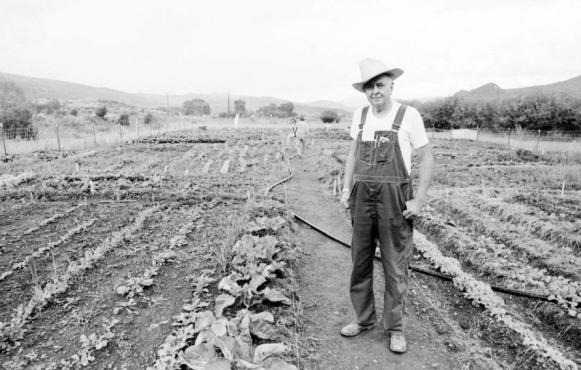 Ed Compton helped to establish the Aspen Community Garden in 1978
